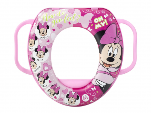 LULABI Riduttore Wc Disney Minnie 3 con Manico Plastica e Pvc Made in Italy