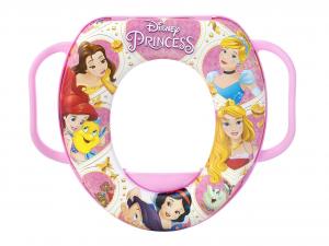 LULABI Riduttore Wc Disney Princess New con Manico Plastica e Pvc