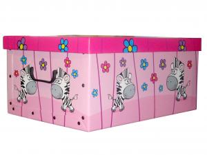 DAPE Set 27 Scatole cartone decorazione bimbo 52x40x25 Riordino e Lavanderia