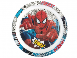 LULABI Set 6 Piatto Melamina Spiderman Piano 21,5