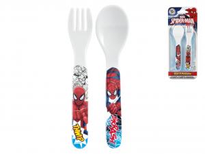 LULABI Set 6 Confezione Cucchiaio Forchetta Melamina Spiderman