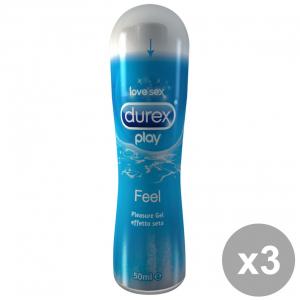 DUREX Top Gel FEEL 50 ml Kit 3 Pezzi Gel intimo massaggi per secchezza vaginale Lubrificante intimo