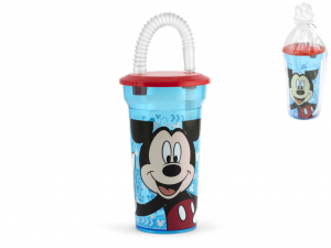 LULABI Set 6 Bicchiere ps Disney mickey3 con cannuccia Arredo tavola