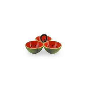 HOME Centrotavola Ceramica Anguria 3P 22.5 Arredo Tavola Tessili