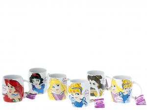 HOME Set 6 Mug Stoneware Disney Princess Cercasi Preparazione Arredo Tavola