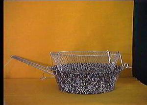CERIANI Friggitrice ferro/porcellana con cestello 26sct
