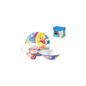 HOME Confezione 3 Pezzi Prima Colazione Disney Winnie Preparazione Arredo Tavola