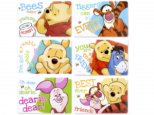 HOME Set 12 Tovagliette Polipropilene Disney Winnie Origin Tessili Arredo Tavola