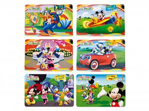 HOME Set 12 Tovagliette Polipropilene Disney Mickey Club 2 Tessili Arredo Tavola