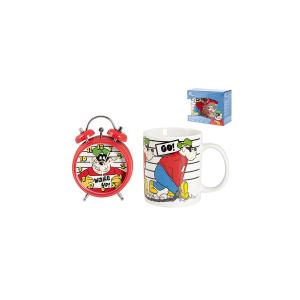 HOME Confezione Sveglia Mug Porcellana Disney Bassotti Cameretta Accessori Bimbo