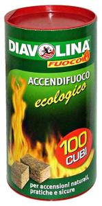 DIAVOLINA Ecologica X 100 cubi - Articoli per pic-nic