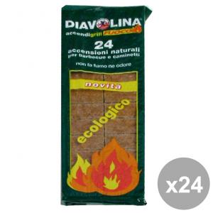 Set 24 DIAVOLINA Ecologica X 24 Cubi Barbecue & pic-nic