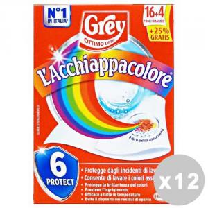 Set 12 GREY AcchiappaColore X 20 Fogli Detergenti casa
