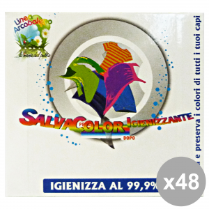 Set 48 ARCOBALENO SalvaCOLOR Igienizzante X 10 Fogli Detergenti casa