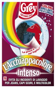 GREY AcchiappaColore INTENSO X 16 Fogli Detergenti Casa