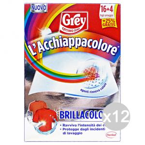 Set 12 GREY Acchiappacolore Brillacolore 16+4 Fogli Prodotto Lavatrice
