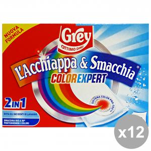 Set 12 GREY ACCHIAPPA&Smacchiatore IA X 10 Pezzi Detergenti casa