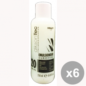 Set 6 DIKSON Acqua Emulsione EMULSINDOR 20 VOL. 250 Ml. Prodotti per capelli