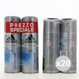 Set 20 ADIDAS Deodorante Spray 150X2 Clima Cool profumo per il corpo in vendita online