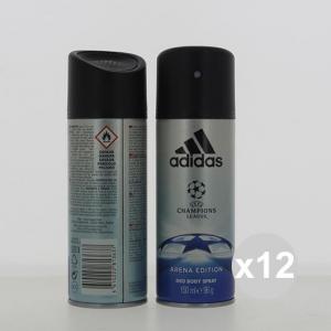 Set 12 ADIDAS Deodorante Spray 150 Uefa N3 profumo per il corpo in vendita online