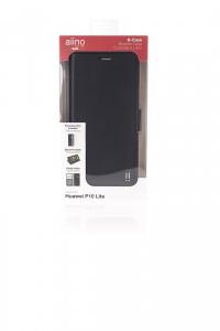 AIINO B-Cover Cover a libro per Huawei P10 Lite - Nero