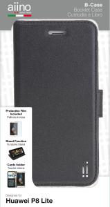 AIINO B-Cover Cover a libro per Huawei P8 Lite - Nero
