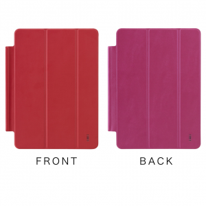 AIINO Custodia Three Cover per iPad Air 2 - Rosso/Hot Rosa
