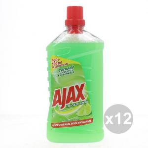 Set 12 AJAX 1L Freschezza Limone Multi superficie Pulizia della casa Detersivi