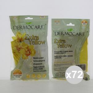 Set 72 AJSIA Guanti Dermocare Felp Ext Yellow M Pulizia della casa bucato e detergenza