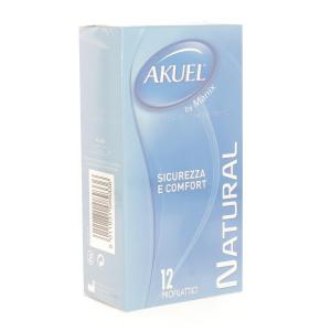 AKUEL Natural 12 Pezzi Preservativi Maschili Condom Profilattici