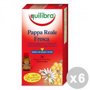 EQUILIBRA Set 6 EQUILIBRA Pappa reale fresca * 10 flaconi - prodotti alimentari