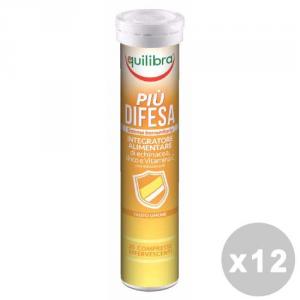 EQUILIBRA Set 12 EQUILIBRA Pi├╣ difesa effervescente * 20 caps - prodotti alimentari