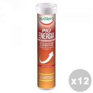 EQUILIBRA Set 12 EQUILIBRA Pi├╣ energia effervescente * 20 caps - prodotti alimentari