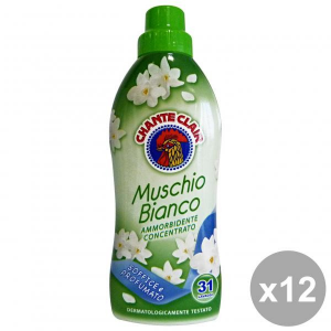 CHANTE CLAIR Set  12 Ammorbidente Concentrato 625 Ml. Muschio Bianco Detergenti Casa