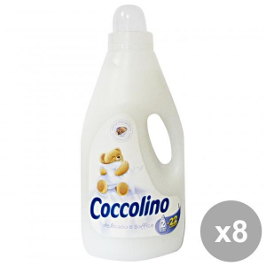 Set 8 COCCOLINO Ammorbidente 2 Lt. Bianco Delicato-Soffice Detergenti casa