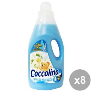 Set 8 COCCOLINO Ammorbidente 2 Lt. BLU ARIA Di PRIMAVERA Detergenti casa