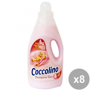Set 8 COCCOLINO Ammorbidente 2 Lt. ROSA SENSAZIONE Seta Detergenti casa