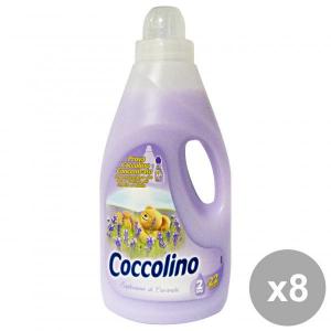Set 8 COCCOLINO Ammorbidente 2 Lt. VIOLA ESPLOSIONE Lavanda Detergenti casa