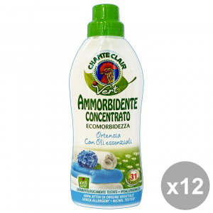 CHANTE CLAIR Set  12 Ammorbidente Concentrato Eco.Ortensia 625 Ml. Detergenti Casa