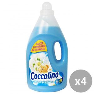 Set 4 COCCOLINO Ammorbidente 4 Lt. BLU PRIMAVERA Detergenti casa
