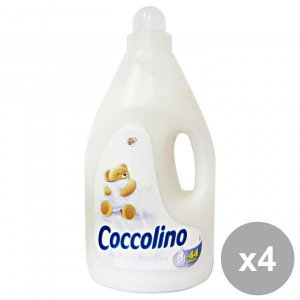 Set 4 COCCOLINO Ammorbidente 4 Lt. Bianco Delicato-Soffice Detergenti casa
