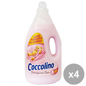 Set 4 COCCOLINO Ammorbidente 4 Lt. ROSA SENSAZIONE Seta Detergenti casa