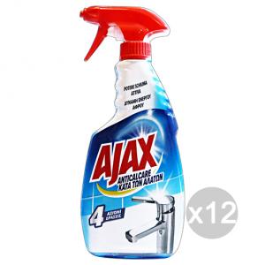 Set 12 AJAX Anticalcare Schiuma Attiva Trigger 500 Ml Deterisvo Detergente