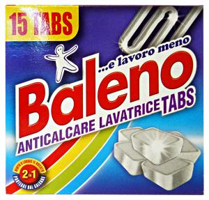 BALENO Anticalcare Lavatrice X 15 Tabs Detergenti Casa