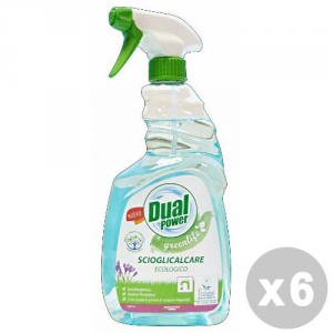 DUAL POWER Set 6 DUAL POWER Anticalcare green power ecologico trigger 750 ml.