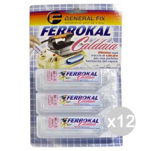 Set 12 GENERAL FIX Anticalcare Caldaia Ferro Stiro 3 Pezzi Pulizia Specifica