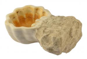 Vaschetta acquasantiera portaoggetti in marmo artigianale elegante AQ-13-cd-01