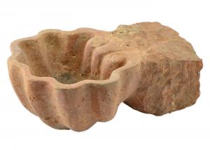 Vaschetta in marmo scolpito a mano conchiglia multiuso portaoggetti AQ-13-ts-01