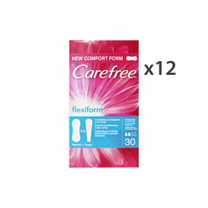 Set 12 CAREFREE X 30 Pezzi FLEXIFORM SalvaSlip Cura del corpo