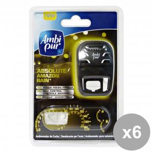AMBI PUR Set  6 Auto Base Vaniglia Deodorante Accessori Auto E Moto